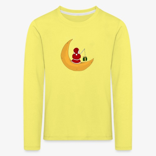 Santa sur un croissant de lune - Kids' Premium Longsleeve Shirt