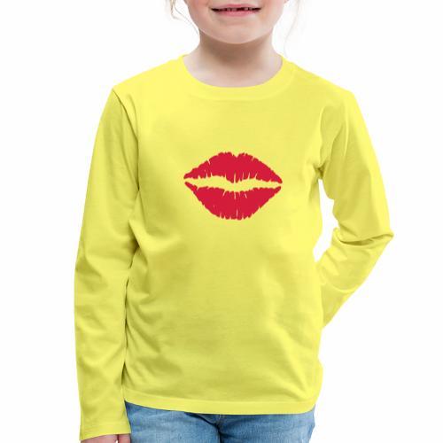 Lippen - Kinderen Premium shirt met lange mouwen