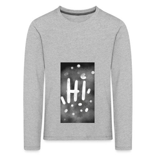 Hola o hi nublado - Camiseta de manga larga premium niño