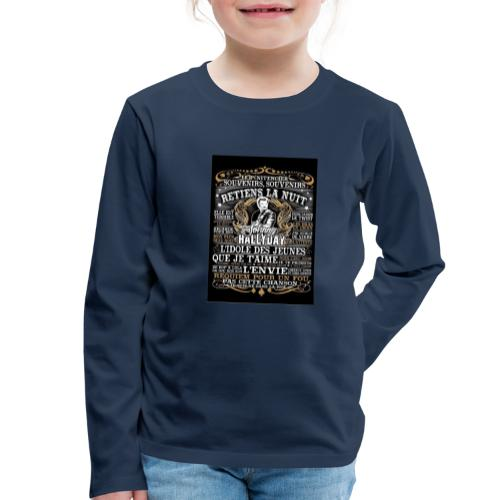 Johnny hallyday diamant peinture Superstar chanteu - T-shirt manches longues Premium Enfant