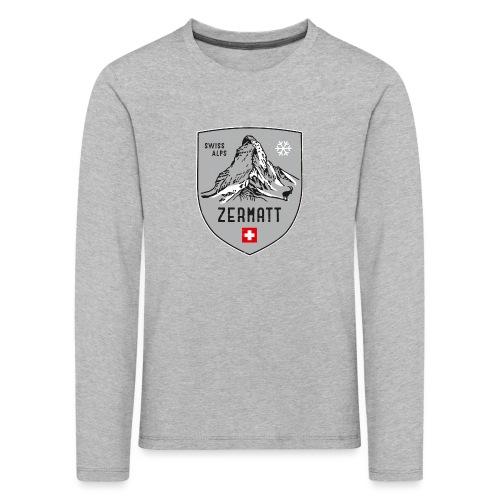 Zermatt Schweiz Wappen - Kids' Premium Longsleeve Shirt