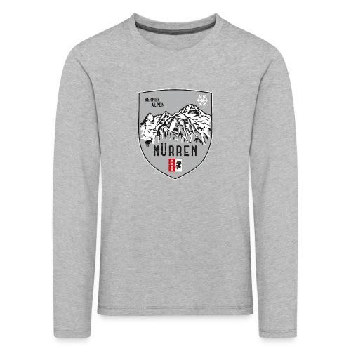 Eiger, Mönch und Jungfrau mit Mürren Flagge - Kids' Premium Longsleeve Shirt