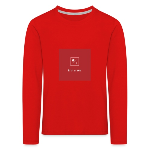 It's a me - Kinder Premium Langarmshirt