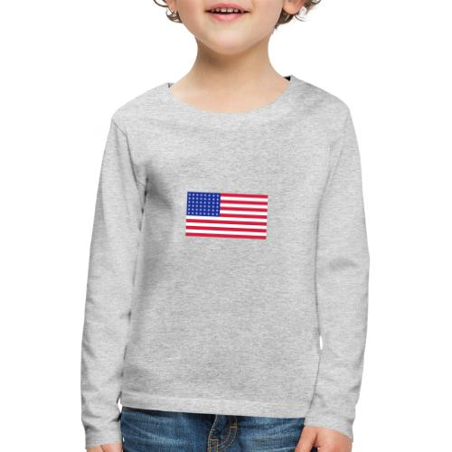 AVM 48 star flag in 3 color RGB VECTOR - Kinderen Premium shirt met lange mouwen