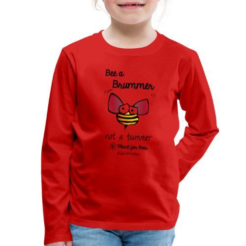 Bees6-2 Save the bees - Kids' Premium Longsleeve Shirt