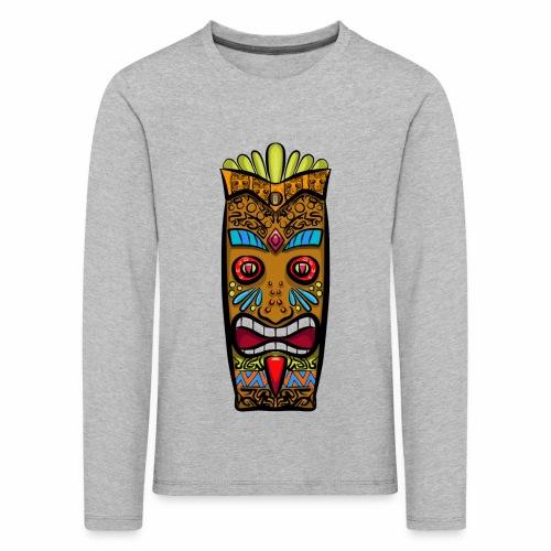 Máscara Tribal - Camiseta de manga larga premium niño