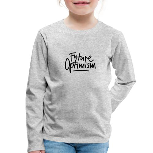Future Optimism Black - Kinder Premium Langarmshirt