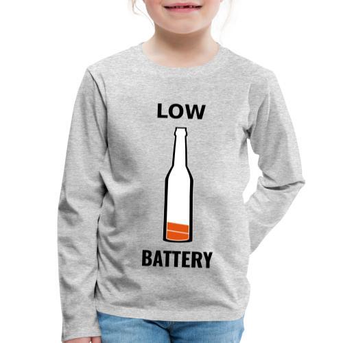 Beer Low Battery - T-shirt manches longues Premium Enfant