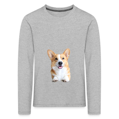 Topi the Corgi - Frontview - Kids' Premium Longsleeve Shirt
