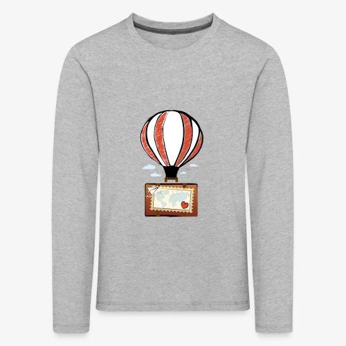 CUORE VIAGGIATORE Gadget per chi ama viaggiare - Maglietta Premium a manica lunga per bambini