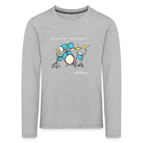 Luigi Drum White - Kids' Premium Longsleeve Shirt