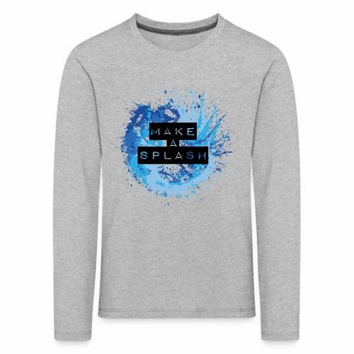 Make a Splash - Aquarell Design in Blau - Kinder Premium Langarmshirt