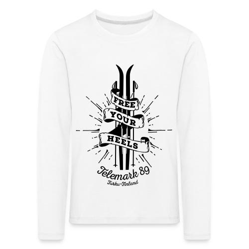 FreeYourHeels_merge - Lasten premium pitkähihainen t-paita