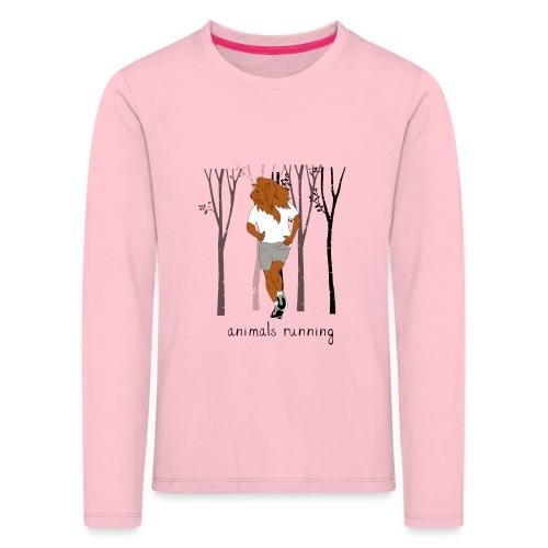 Lion running - T-shirt manches longues Premium Enfant