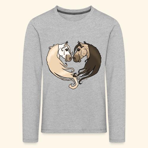 Chevaux amoureux gris-gris - T-shirt manches longues Premium Enfant