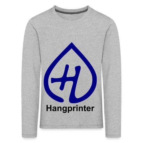 Hangprinter logo and text - Långärmad premium-T-shirt barn