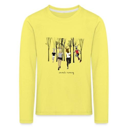 Groupe animals running - T-shirt manches longues Premium Enfant