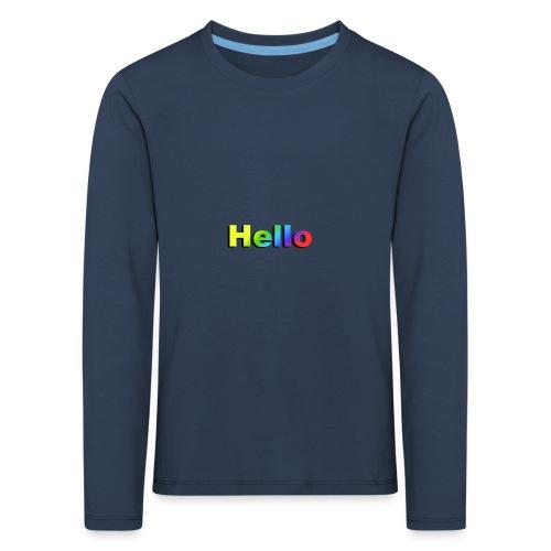 Hello - Koszulka dziecięca Premium z długim rękawem
