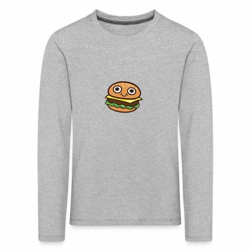 Burger Cartoon - Kinderen Premium shirt met lange mouwen
