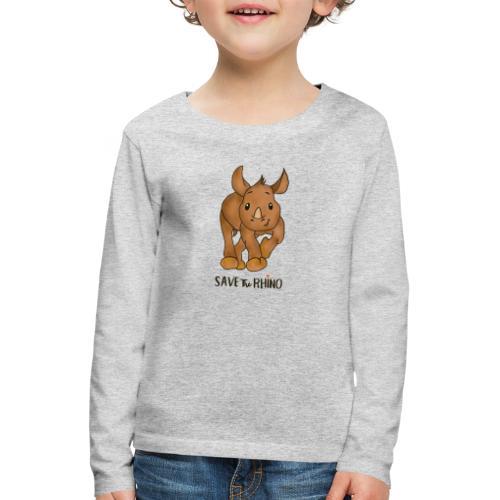 Save the Rhino - Kids' Premium Longsleeve Shirt