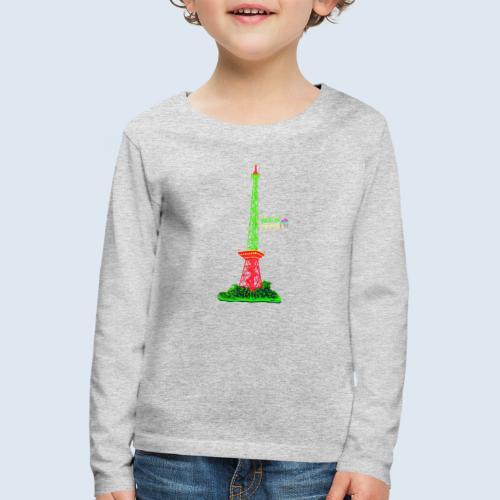 """Berliner Original """"Funkturm"""" PopArt Design - Kinder Premium Langarmshirt"""