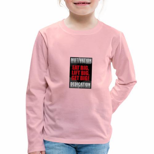 Motivation gym - Långärmad premium-T-shirt barn