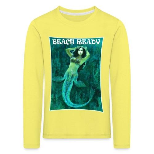 Vintage Pin-up Beach Ready Mermaid - Kids' Premium Longsleeve Shirt