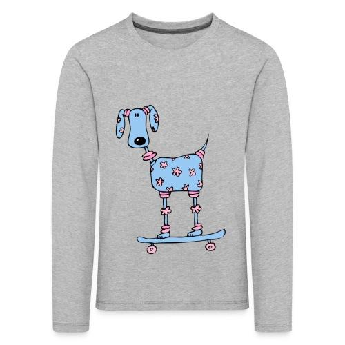 afbeelding skatehondokok - Kinderen Premium shirt met lange mouwen