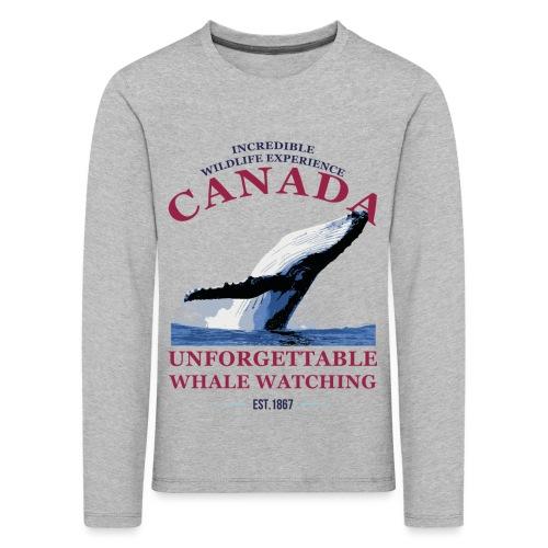 CANADA - WHALE WATCHING - Kinder Premium Langarmshirt