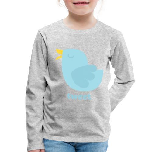 tweet - Børne premium T-shirt med lange ærmer