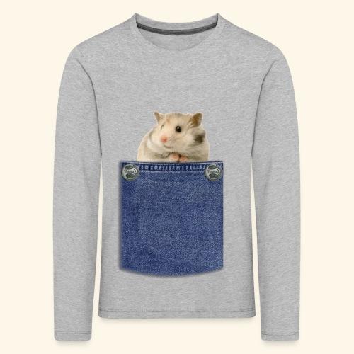 hamster in the poket - Maglietta Premium a manica lunga per bambini