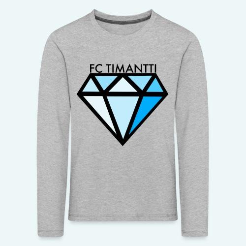 FC Timantti mustateksti - Lasten premium pitkähihainen t-paita