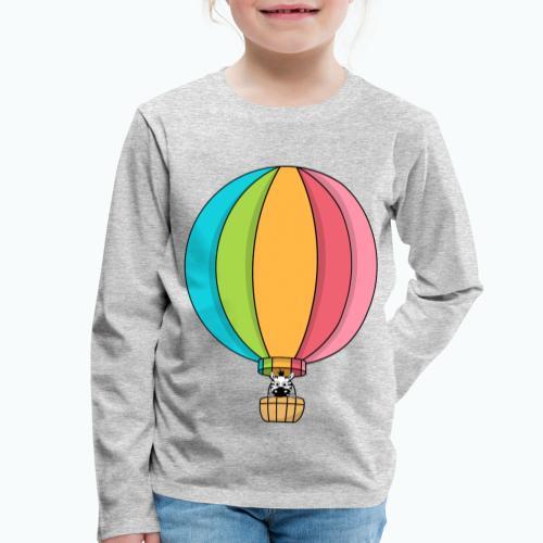 Zebra Zach Air Balloon - Långärmad premium-T-shirt barn