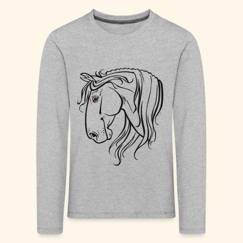 Cheval espagnol (noir) - T-shirt manches longues Premium Enfant