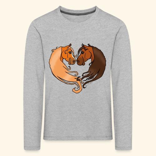 Chevaux amoureux alezan-bai - T-shirt manches longues Premium Enfant