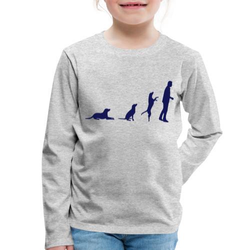 hundemensch vektor orange - Kinder Premium Langarmshirt