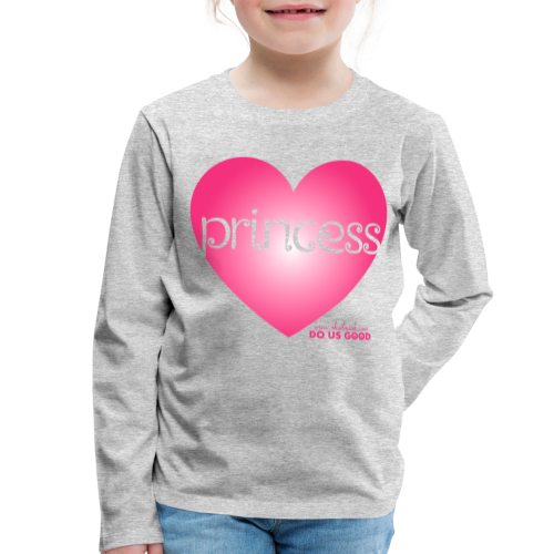 PRINCESS - Lasten premium pitkähihainen t-paita