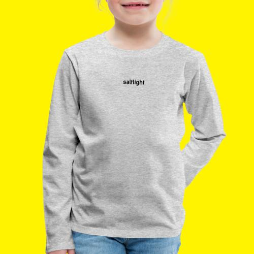 Saltlight // Black - Black - Kids' Premium Longsleeve Shirt