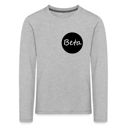 Beta - Kinderen Premium shirt met lange mouwen