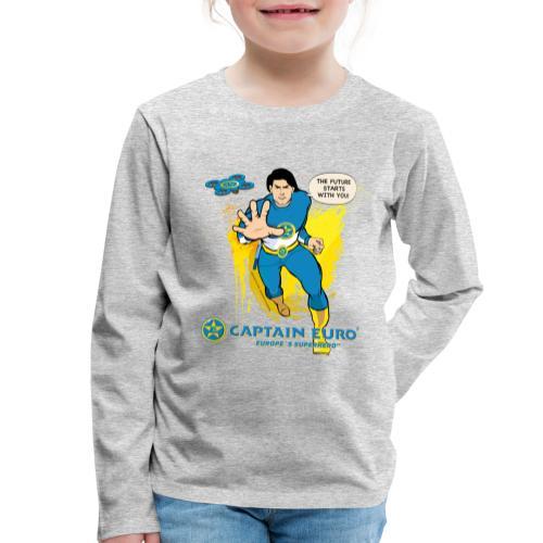 El futuro protagoniza contigo - marca azul. - Camiseta de manga larga premium niño
