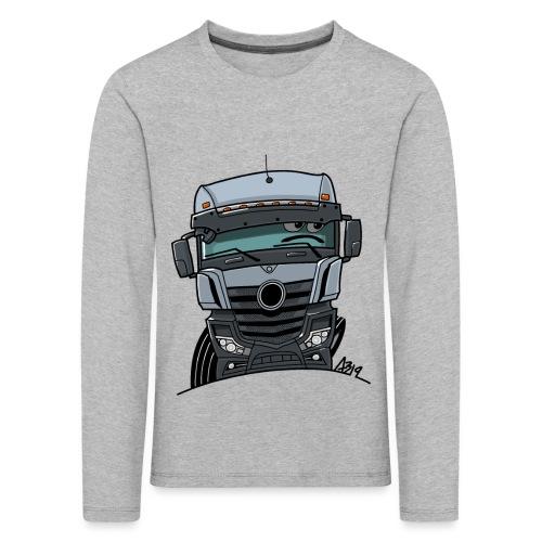 0807 M Truck grijs - Kinderen Premium shirt met lange mouwen