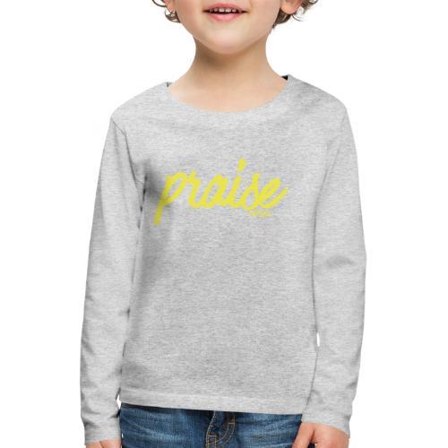 Praise (BLACK) - Kids' Premium Longsleeve Shirt