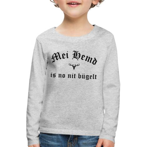 Mei Hemd is no nit bügelt - Hirsch - Kinder Premium Langarmshirt