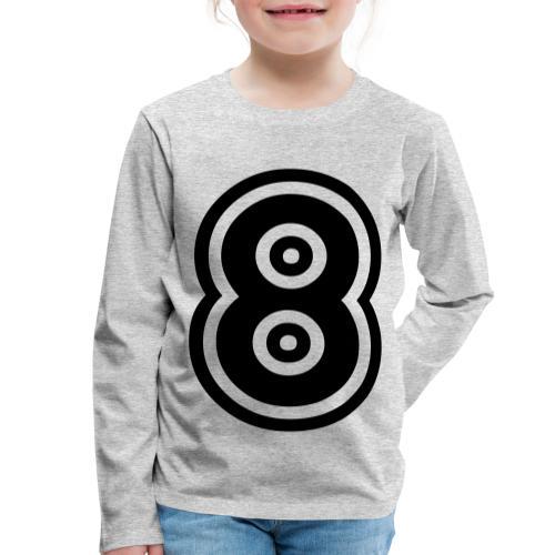 cool number 8 - Kinderen Premium shirt met lange mouwen