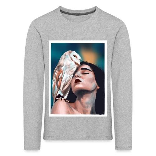 Sowa - Koszulka dziecięca Premium z długim rękawem