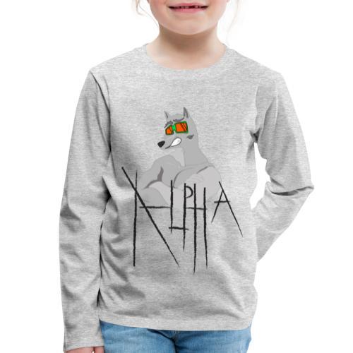 Alpha Wolf - Maglietta Premium a manica lunga per bambini