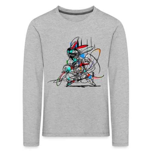 Ninja fighter Easter Bunny / Abstract - Kids' Premium Longsleeve Shirt