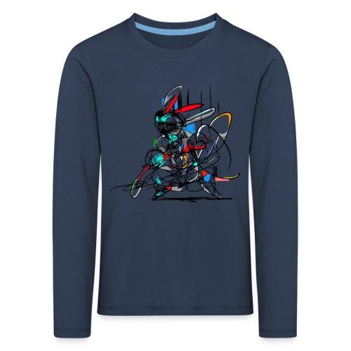 Ninja fighter Easter Bunny / Abstract - Kids' Premium Longsleeve Shirt