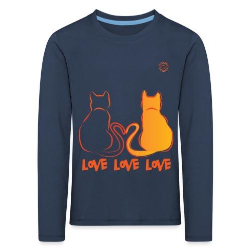 The Red Twins LOVE LOVE LOVE - Maglietta Premium a manica lunga per bambini
