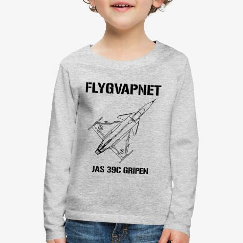 FLYGVAPNET - JAS 39C - Långärmad premium-T-shirt barn